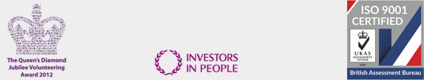 Queens Diamond Jubilee Award, Investors in People, BAB ISO9001 logos