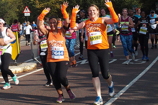 Home-Start fundraisers running the Royal Parks Half Marathon