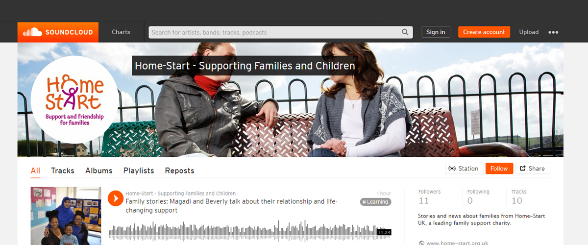 Home-Start podcast family and volunteer stories