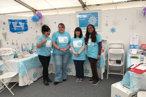 Anita, Yvonne, Sue and Salma from Home-Start at Kistie Allsopp Handmade Fair 2017