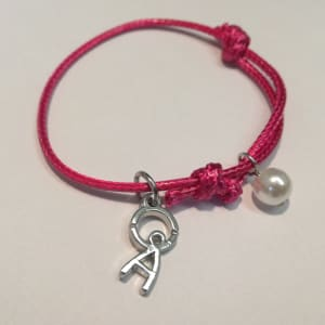 Home-Start purple charm bracelet