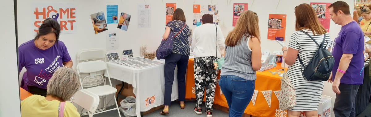 Busy weekend for Home-Start UK at The Handmade Festival