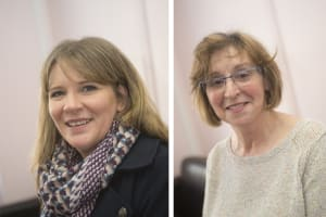Angela and Isabel volunteers at Home-Start Glasgow North