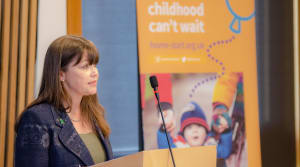 Minister for Children and Young People, Maree Todd MSP speaking at Scottish Parliament