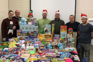 Home-Start families receive special Christmas gifts from Openreach
